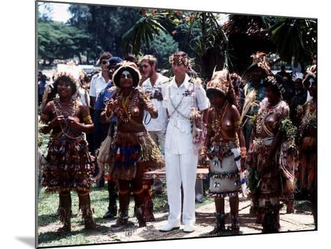 Prince Charles in Papua New Guinea Crowned 10th Lapan of Manus August 1984--Mounted Photographic Print