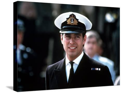 Prince Andrew in Naval Uniform Returns from Falklands 1982 at Portsmouth Docks on Hms Invincible--Stretched Canvas Print