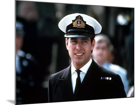 Prince Andrew in Naval Uniform Returns from Falklands 1982 at Portsmouth Docks on Hms Invincible--Mounted Photographic Print