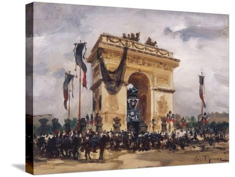 Victor Hugo's Funeral-Gabriel Thurner-Stretched Canvas Print