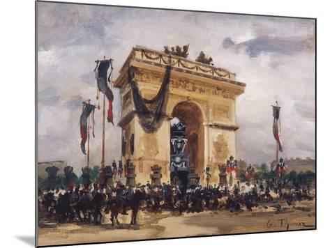 Victor Hugo's Funeral-Gabriel Thurner-Mounted Giclee Print