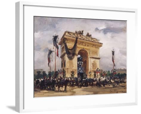 Victor Hugo's Funeral-Gabriel Thurner-Framed Art Print