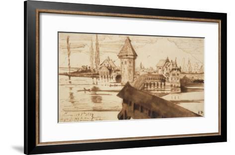 Lucerne, Chapel Bridge-Victor Hugo-Framed Art Print
