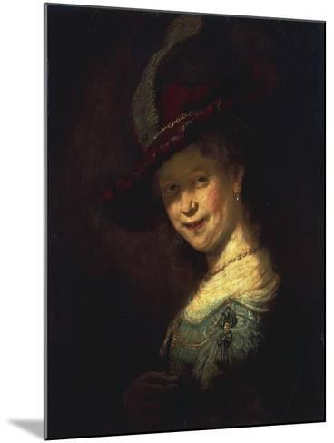 Saskia As a Girl-Rembrandt van Rijn-Mounted Giclee Print