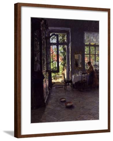 The Garden Room-Gotthardt Johann Kuehl-Framed Art Print