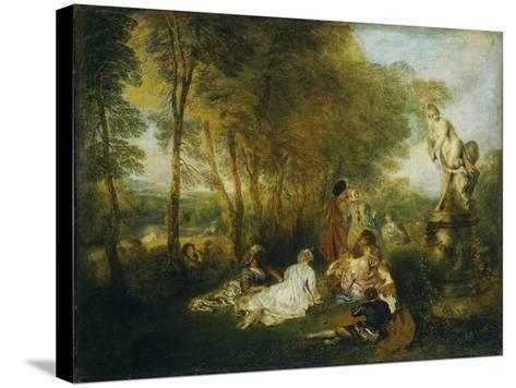 Festival of Love-Jean Antoine Watteau-Stretched Canvas Print
