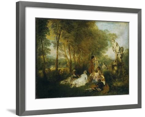 Festival of Love-Jean Antoine Watteau-Framed Art Print