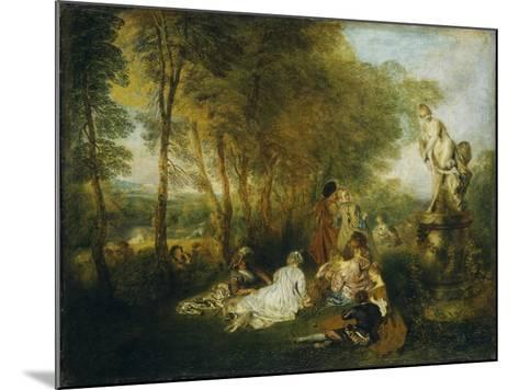 Festival of Love-Jean Antoine Watteau-Mounted Giclee Print