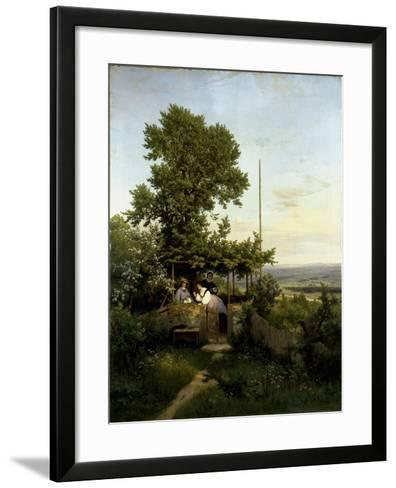 View of the Elbe Valley-Eduard Leonhardi-Framed Art Print