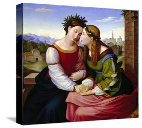 Italia and Germania-Friedrich Overbeck-Stretched Canvas Print