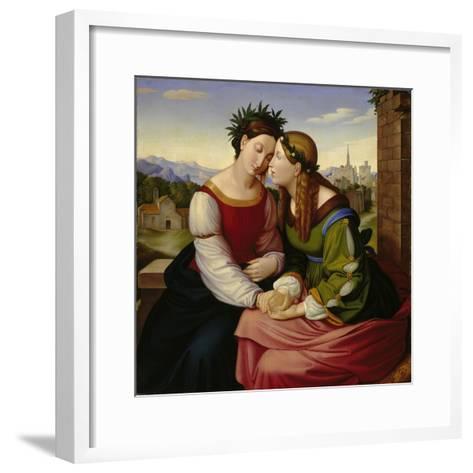 Italia and Germania-Friedrich Overbeck-Framed Art Print