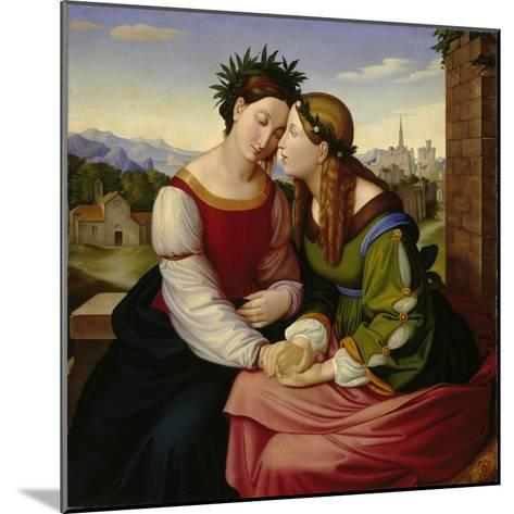 Italia and Germania-Friedrich Overbeck-Mounted Giclee Print