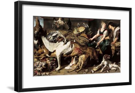 Still-Life With Dogs and Puppies-Frans Snyders-Framed Art Print