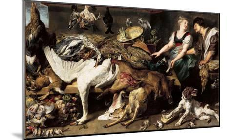 Still-Life With Dogs and Puppies-Frans Snyders-Mounted Giclee Print
