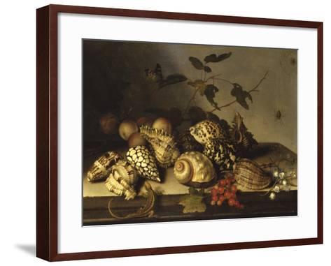 Mussels and Fruit Still-Life-Balthasar van der Ast-Framed Art Print