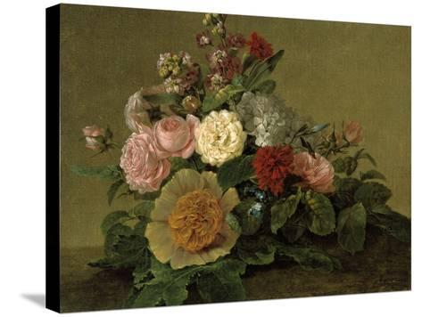 Still-Life With Flowers-Georg Friedrich Kersting-Stretched Canvas Print