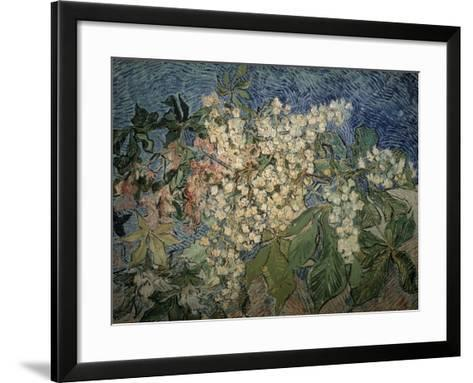 Blossoming Chestnut Branches-Vincent van Gogh-Framed Art Print