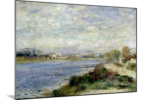 The Seine at Argenteuil-Pierre-Auguste Renoir-Mounted Giclee Print