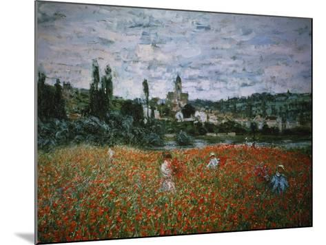 Poppy Field Near Vetheuil-Claude Monet-Mounted Giclee Print