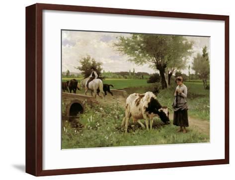 A Well-Guarded Cow-Edouard Debat-Ponsan-Framed Art Print