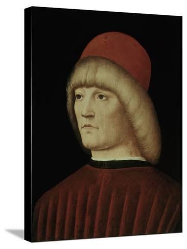 Portrait of a Young Man-Alvise Vivarini-Stretched Canvas Print