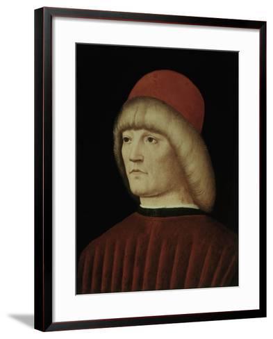 Portrait of a Young Man-Alvise Vivarini-Framed Art Print
