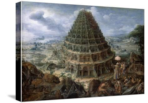 The Tower of Babel-Marten van Valckenborch-Stretched Canvas Print