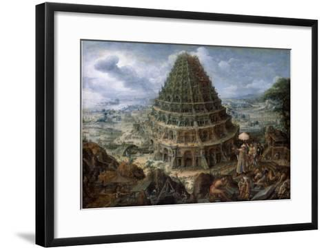 The Tower of Babel-Marten van Valckenborch-Framed Art Print