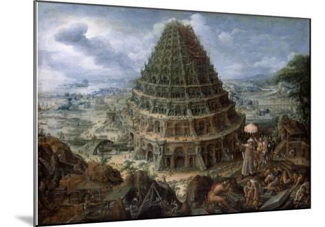 The Tower of Babel-Marten van Valckenborch-Mounted Giclee Print