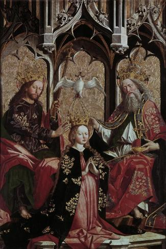 Coronation of the Virgin Mary-Michael Pacher-Stretched Canvas Print