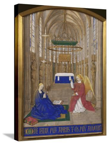 Annunciation To Mary-Jean Fouquet-Stretched Canvas Print