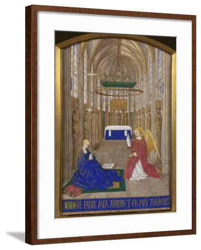 Annunciation To Mary-Jean Fouquet-Framed Art Print