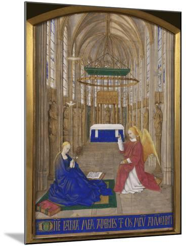 Annunciation To Mary-Jean Fouquet-Mounted Giclee Print