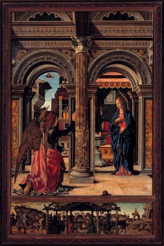 Annunciation-Francesco del Cossa-Stretched Canvas Print