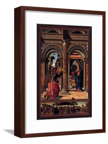 Annunciation-Francesco del Cossa-Framed Art Print