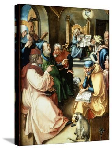 The Twelve Year Old Jesus-Albrecht D?rer-Stretched Canvas Print