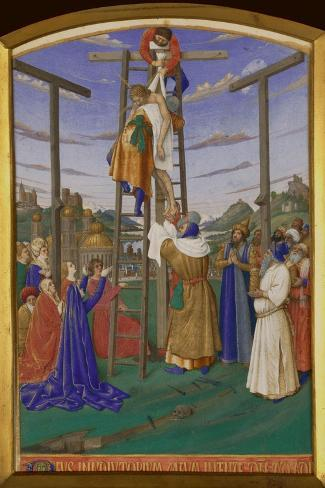 Deposition From the Cross-Jean Fouquet-Stretched Canvas Print