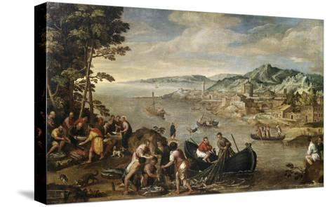 The Miraculous Draught of Fish-Lodewyk Toeput-Stretched Canvas Print
