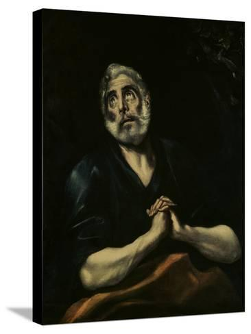 The Repentant Peter-El Greco-Stretched Canvas Print