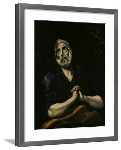 The Repentant Peter-El Greco-Framed Art Print