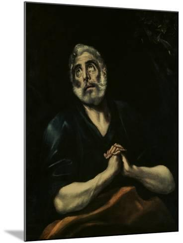 The Repentant Peter-El Greco-Mounted Giclee Print