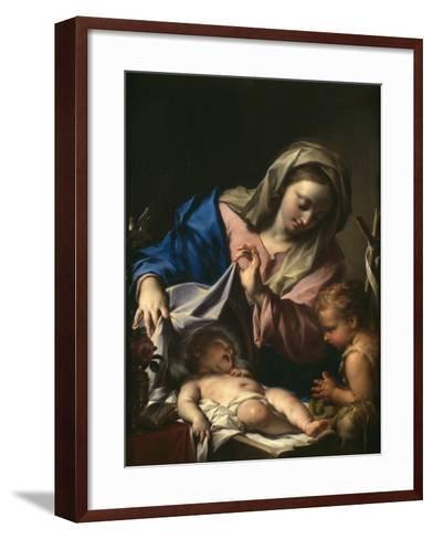 Madonna With Child and Saint John-Francesco Trevisani-Framed Art Print