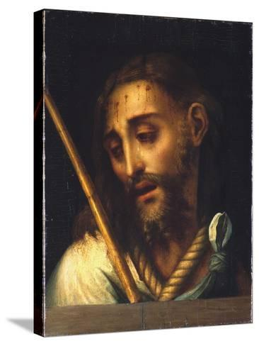 The Man of Sorrows-Luis De Morales-Stretched Canvas Print