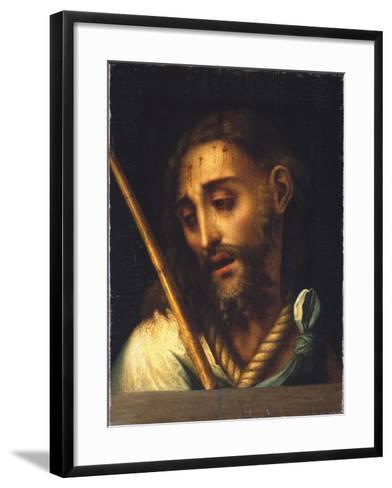 The Man of Sorrows-Luis De Morales-Framed Art Print