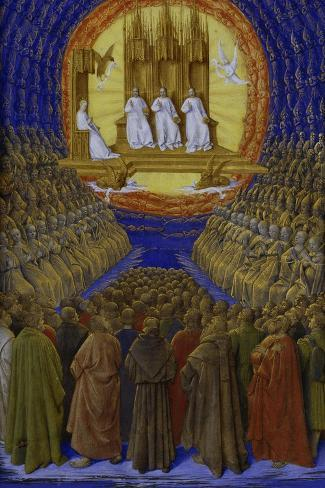 The Holy Trinity-Jean Fouquet-Stretched Canvas Print