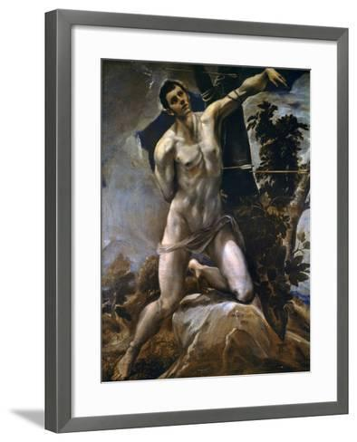 Saint Sebastian-El Greco-Framed Art Print