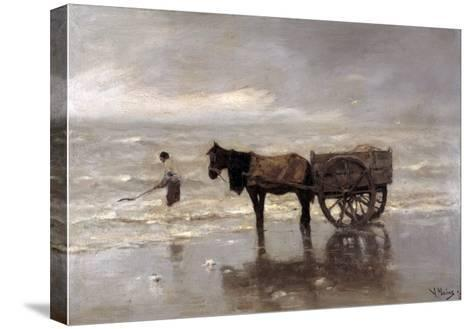 Horse and Cart-Anton Mauve-Stretched Canvas Print