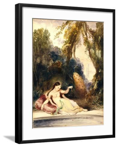 Oriental Woman-Louis Boulanger-Framed Art Print