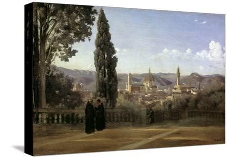 View of Florence-Jean-Baptiste-Camille Corot-Stretched Canvas Print