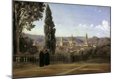 View of Florence-Jean-Baptiste-Camille Corot-Mounted Giclee Print